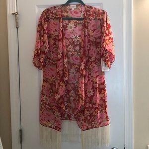 LulaRoe Monroe kimono NWT